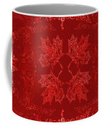 Maple Leaf Filigree Tiled Pattern Coffee Mug