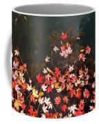 Maple Leaves On The Water  Coffee Mug