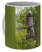 Marble Falls Texas Old Fence Post In Spring Coffee Mug