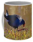 March Of The Swamphen Coffee Mug by Mike  Dawson