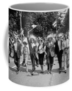 Marchers Wearing Hats Carry Puerto Rican Flags Down Constitution Avenue Coffee Mug