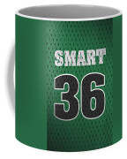 Marcus Smart Boston Celtics Number 36 Retro Vintage Jersey Closeup Graphic Design Coffee Mug