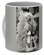 Mardi Gras Indian In Pirates Alley In Black And White Coffee Mug