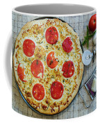 Margarita Pizza With Ingredients Coffee Mug