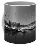 Marina On Lake Murray S C Black And White Coffee Mug