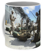 Marines Move Gear During An Embarkation Coffee Mug
