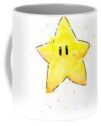 Mario Invincibility Star Watercolor Coffee Mug