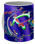 Market Clock In Fractal Coffee Mug