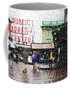 Market In Rain J005 Coffee Mug