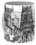 Market Place - Urban Life Outside Temple India Coffee Mug