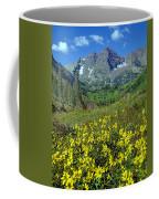 210403-v-maroon Bells And Sunflowers  Coffee Mug