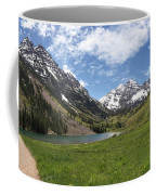 Maroon Bells Wilderness Panorama Coffee Mug