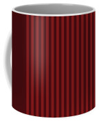 Maroon Red Striped Pattern Design Coffee Mug