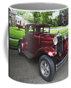 Maroon Vintage Car Coffee Mug