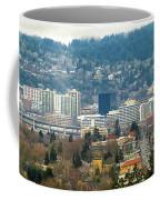 Marquam Bridge By Portland City Skyline Panorama Coffee Mug