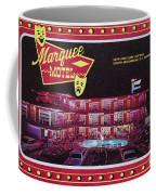 Marquee Motel 1960's Wildwood, Nj, Copyright Aladdin Color Inc. Coffee Mug
