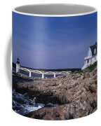 Marshall Point Light Coffee Mug by Skip Willits