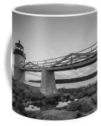 Marshall Point Light Sunset Bw Coffee Mug