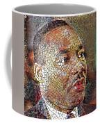 Martin Luther King Portrait Mosaic 1 Coffee Mug