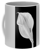 Marvelous Calla Lily In Black And White Coffee Mug