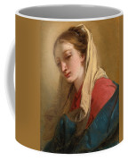 Mary Magdalene In Three-quarter View Veiled In A White Cloth Coffee Mug