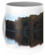 Maryland Autumns - Lake Elkhorn - Red Roof Coffee Mug