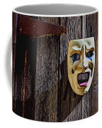 Mask On Barn Door Coffee Mug