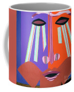 Mask With Streaming Eyes Coffee Mug