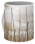 Masts In Sepia Coffee Mug