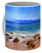Maui Beach And View Of Lanai Coffee Mug