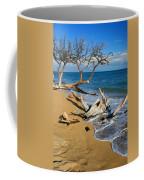 Maui Beach Dirftwood Fine Art Photography Print Coffee Mug