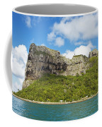 Maupiti Island Cliff Coffee Mug