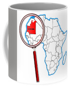 Mauritania Under A Magnifying Glass Coffee Mug