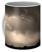 May Showers 2 In Sepia - Lightning Thunderstorm 5-10-2011   Coffee Mug