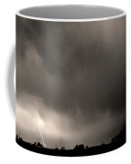 May Showers 3 In Sepia - Lightning Thunderstorm 5-10-2011 Boulde Coffee Mug