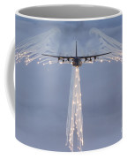 Mc-130h Combat Talon Dropping Flares Coffee Mug