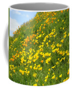 Meadow Hillside Poppy Flowers 8 Poppies Artwork Gifts Coffee Mug