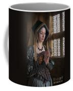 Medieval Tudor Woman At Prayer Coffee Mug