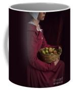 Medieval Woman Holding A Basket Of Apples Coffee Mug