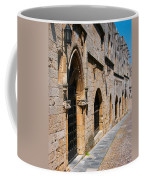 Medievil Town In Rhodes Coffee Mug by Sandra Bronstein