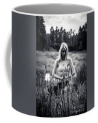 Meditation Meadow Bw Background Coffee Mug
