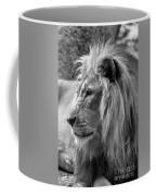 Meditative Lion In Black And White Coffee Mug