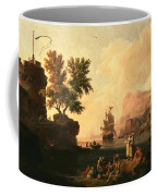 Mediterranean Harbor Scene Coffee Mug