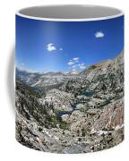 Medley Lake Basin Panorama From High Above - Sierra Coffee Mug