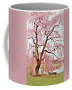 Meet Me Under The Pink Blooms Beside The Pond - Holmdel Park Coffee Mug
