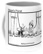 Meeting Up In Dog Park Coffee Mug