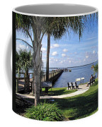 Melbourne Beach Pier In Florida Coffee Mug