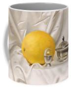 Melon On White Silk Coffee Mug