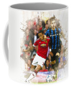 Memphis Depay Of Manchester United In Action Coffee Mug