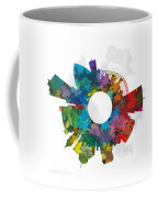Memphis Small World Cityscape Skyline Abstract Coffee Mug